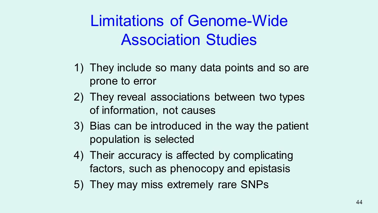 Limitations of Genome-Wide Association Studies