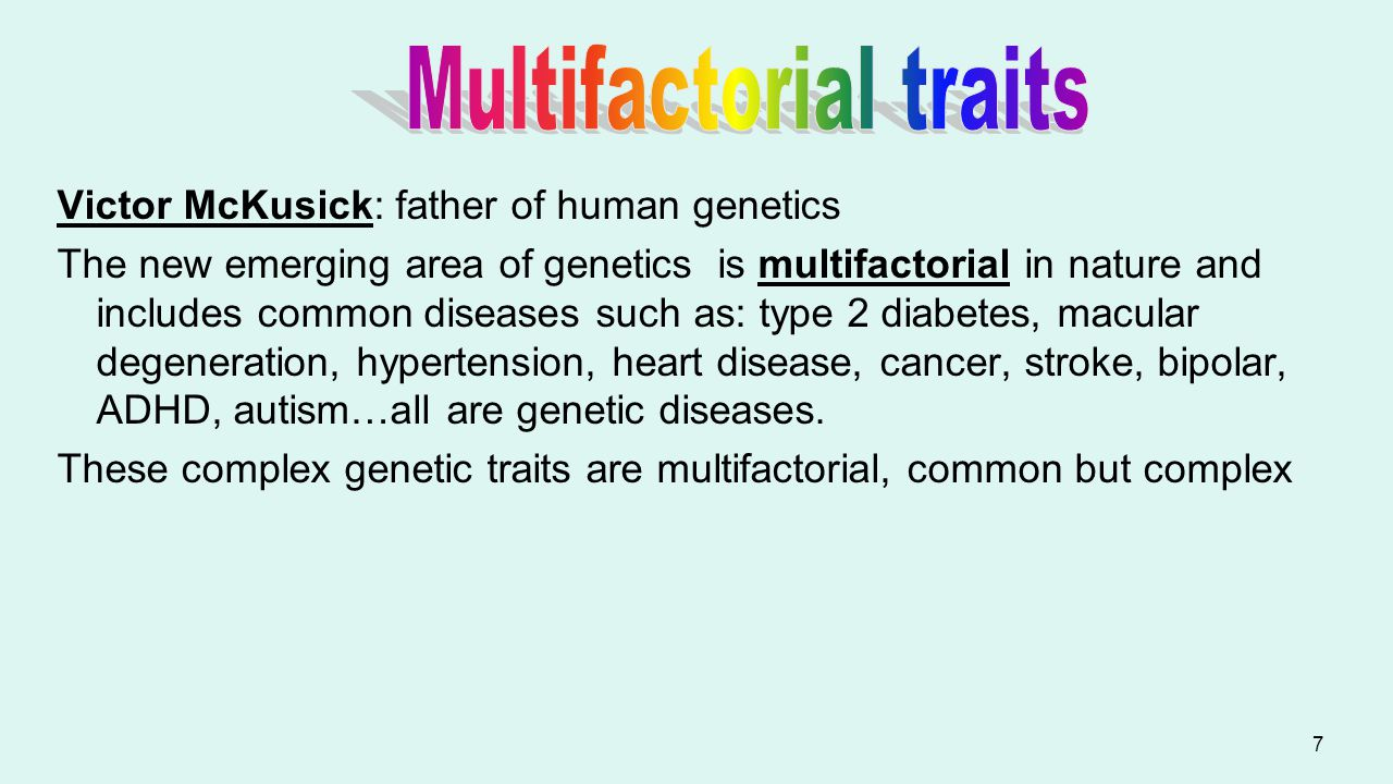 Multifactorial traits