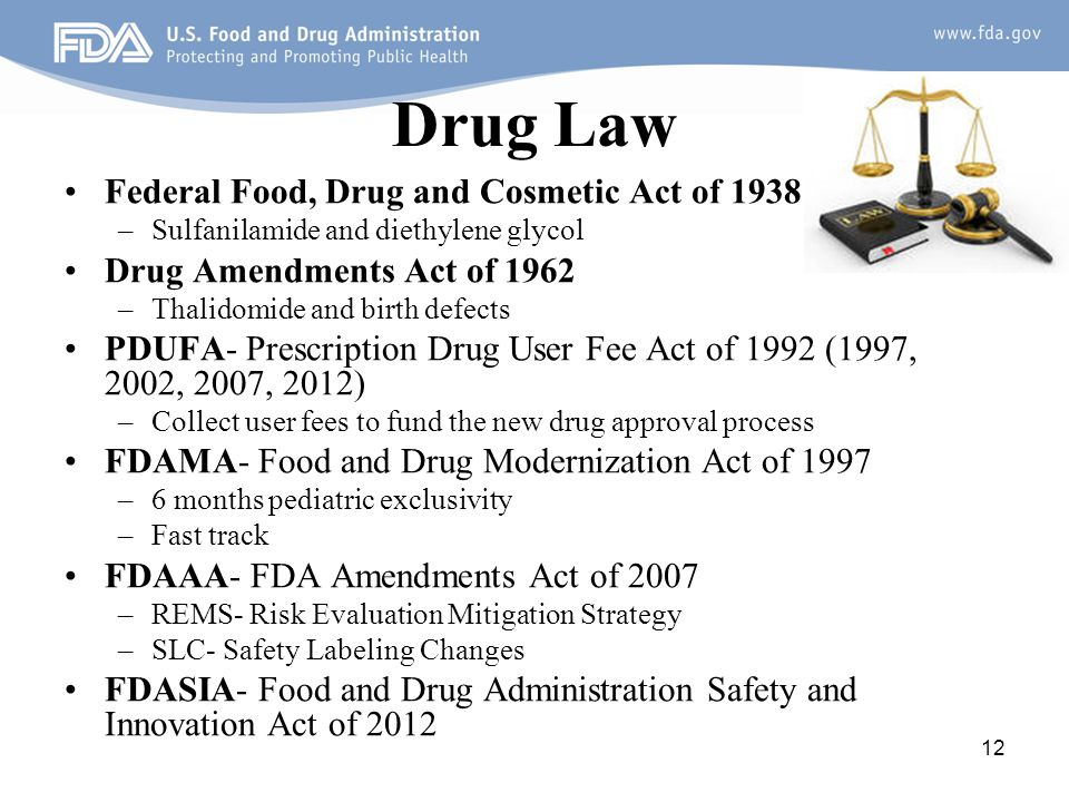 Drug Law Federal Food, Drug and Cosmetic Act of 1938