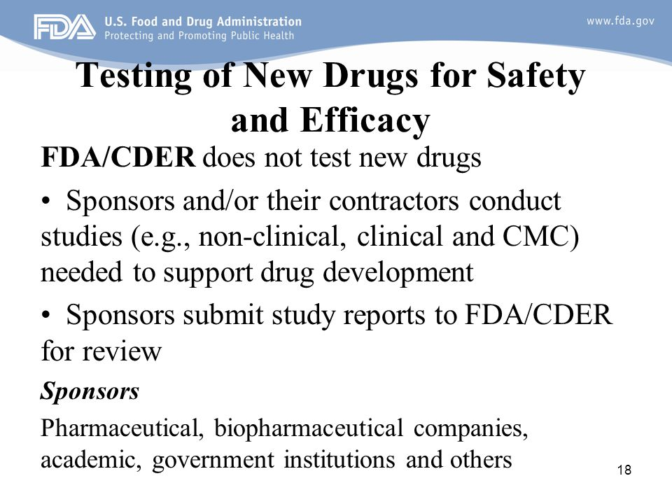 Testing of New Drugs for Safety and Efficacy