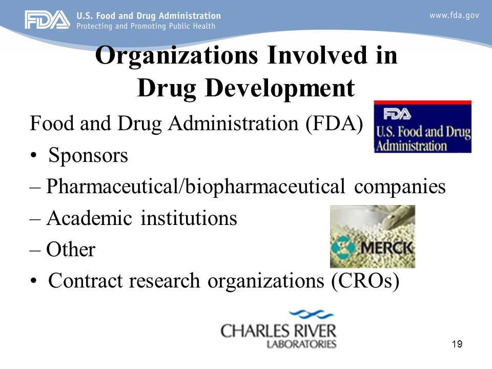Organizations Involved in Drug Development