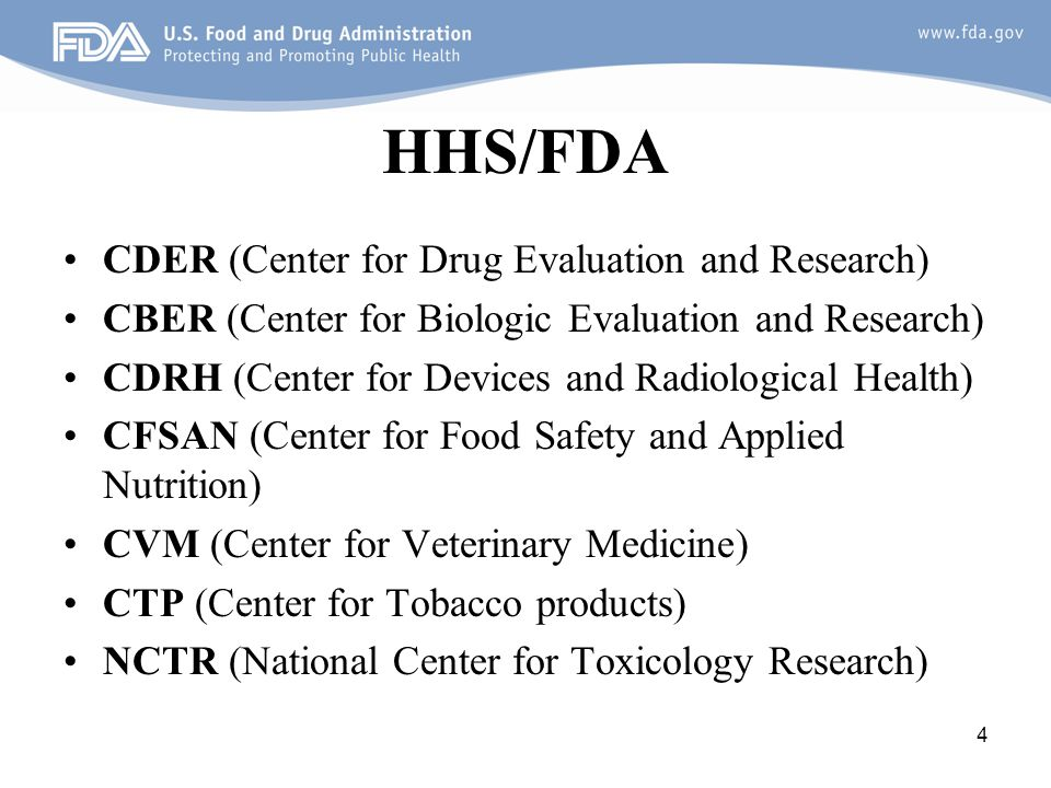 HHS/FDA CDER (Center for Drug Evaluation and Research)