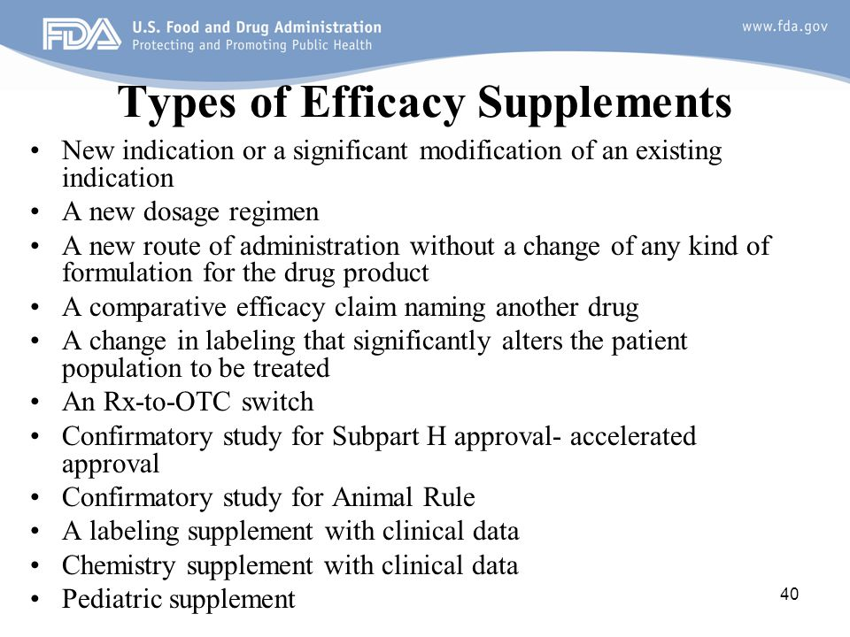Types of Efficacy Supplements