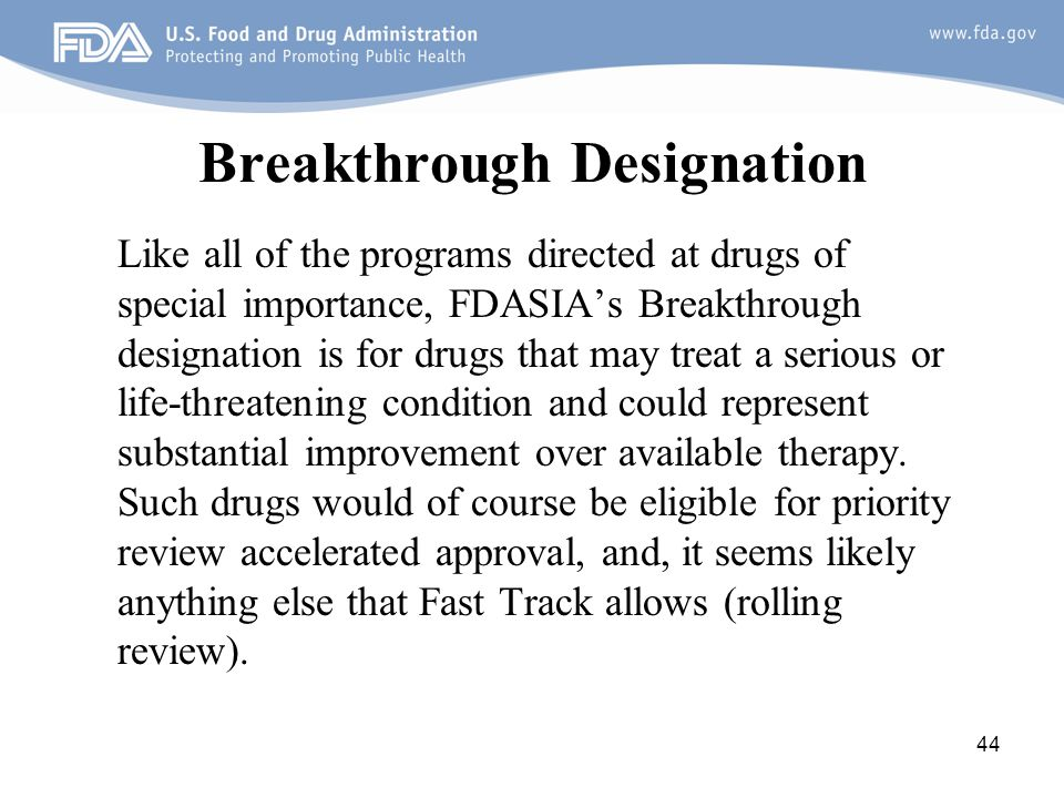 Breakthrough Designation