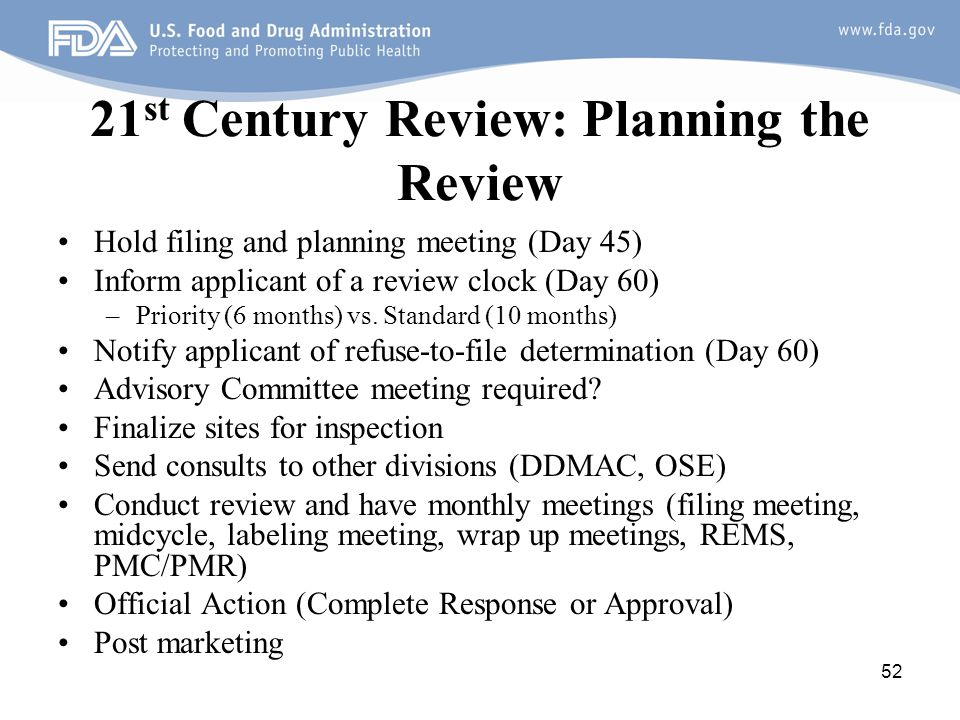 21st Century Review: Planning the Review