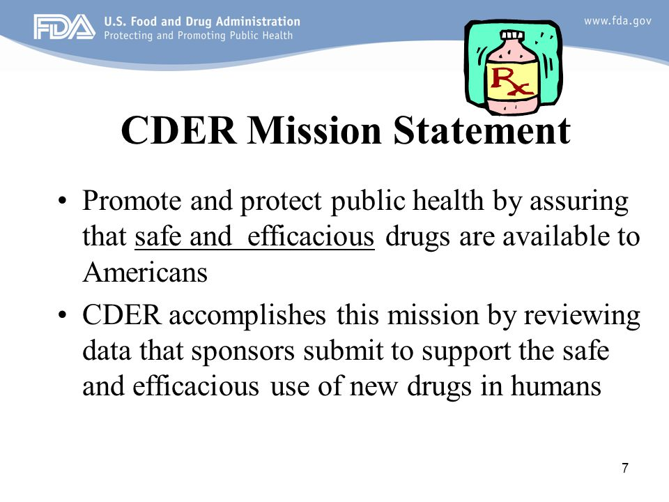 CDER Mission Statement