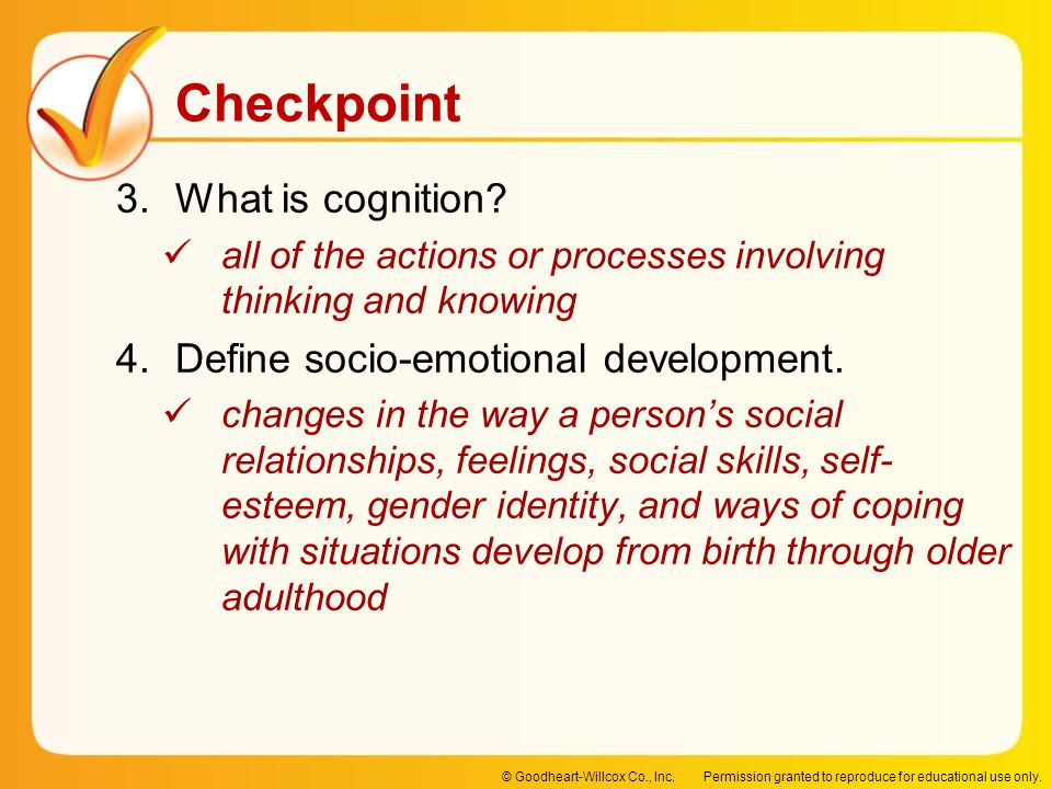 Define socio-emotional development.