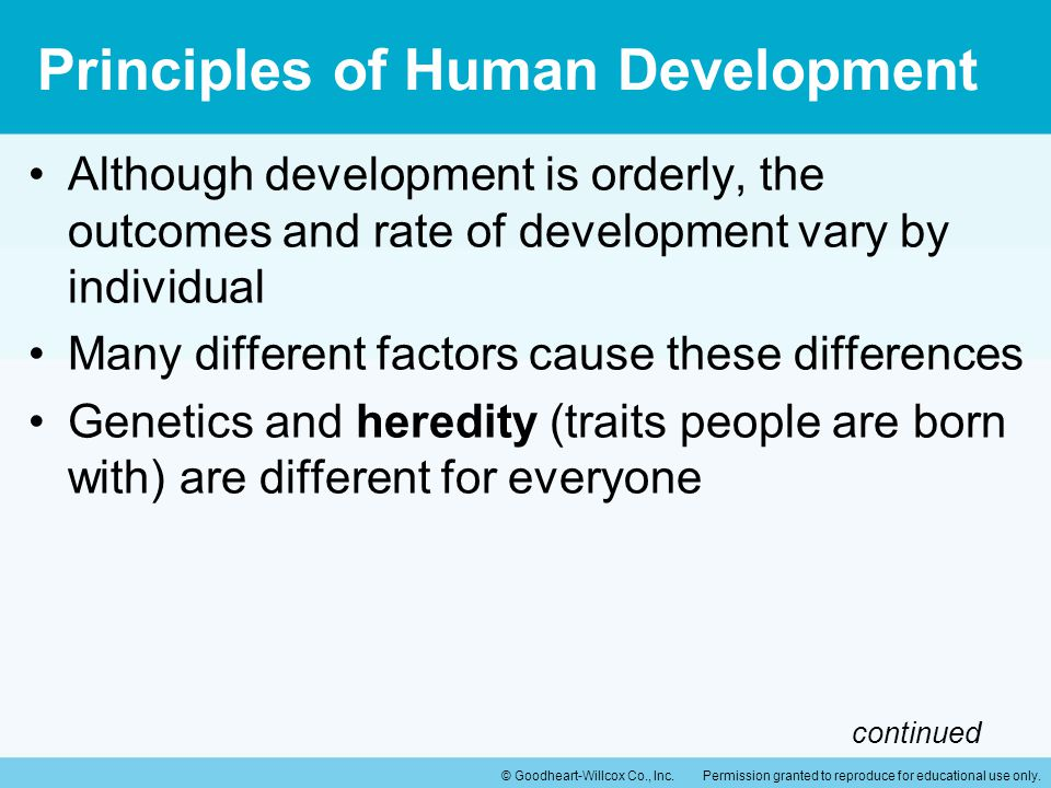 Principles of Human Development