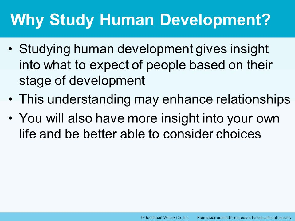 Why Study Human Development