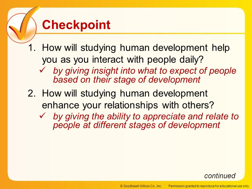 How will studying human development help you as you interact with people daily
