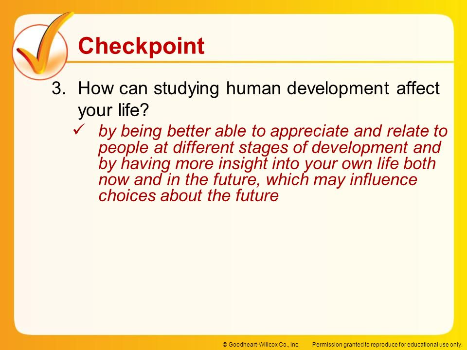 How can studying human development affect your life