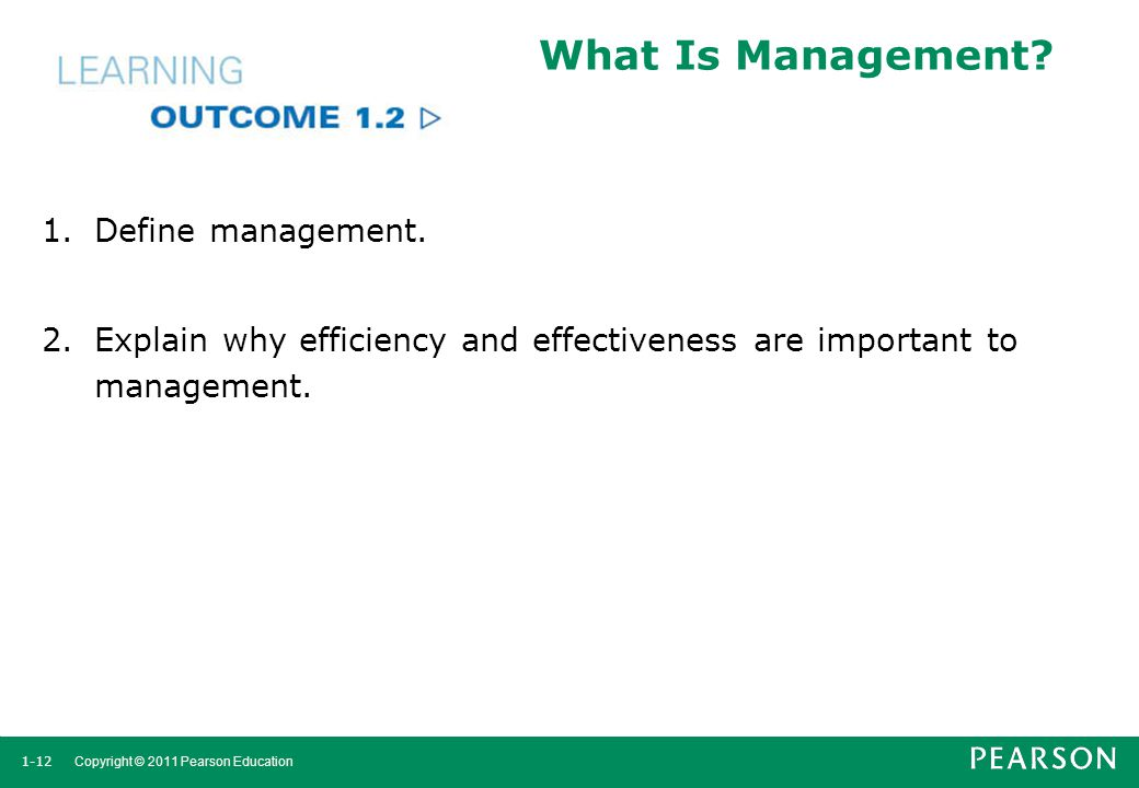 What Is Management Define management.