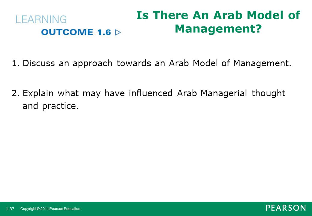Is There An Arab Model of Management
