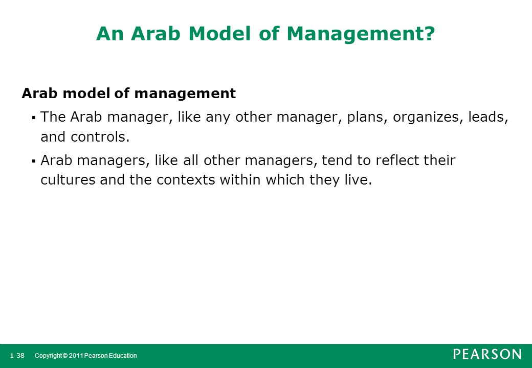 An Arab Model of Management