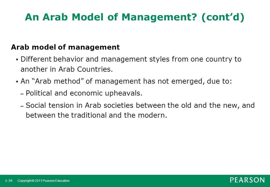 An Arab Model of Management (cont'd)