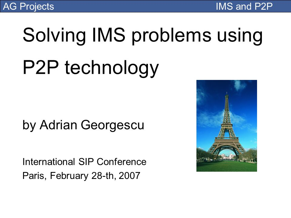 Solving IMS problems using P2P technology