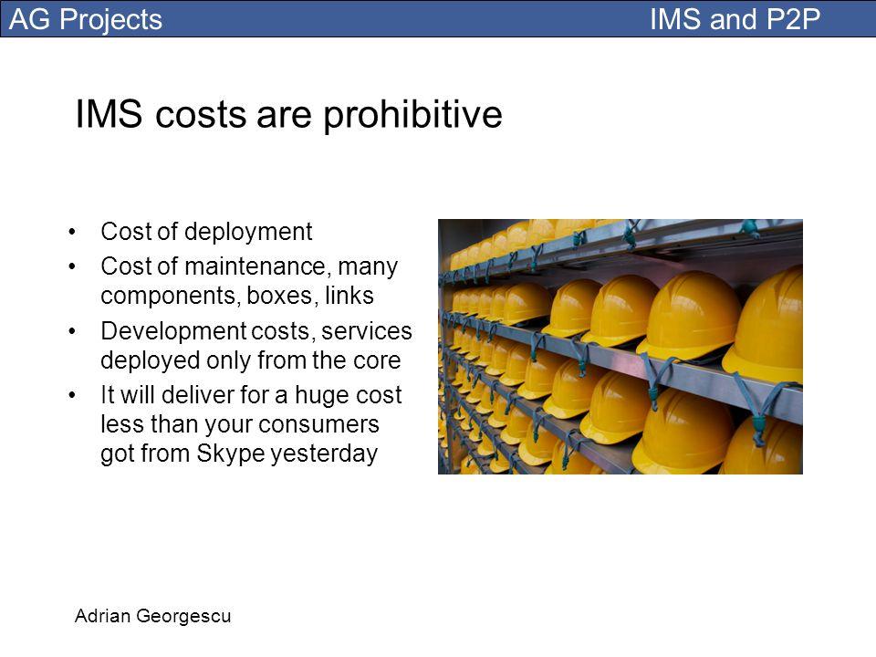 IMS costs are prohibitive