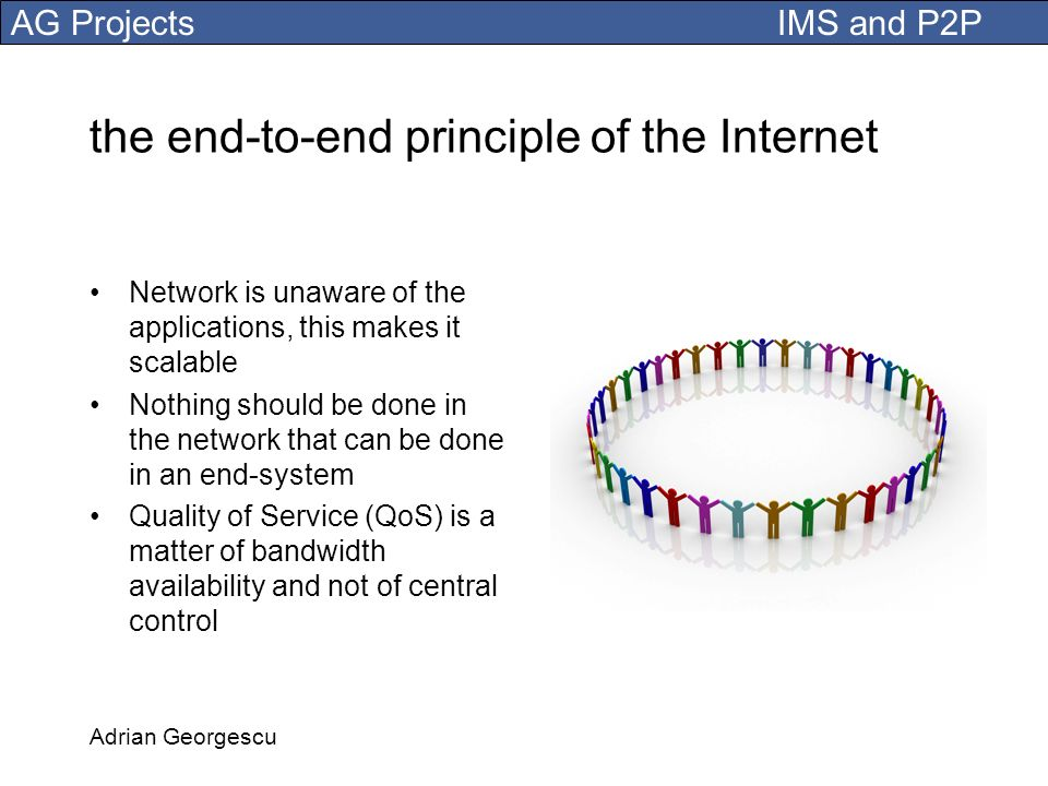 the end-to-end principle of the Internet