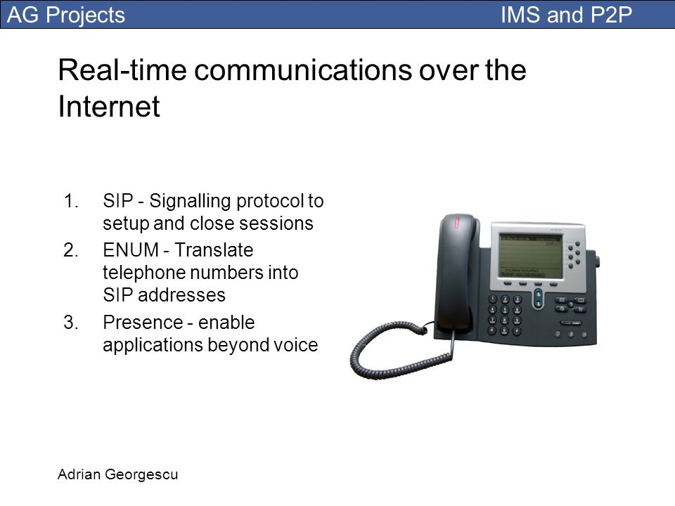 Real-time communications over the Internet