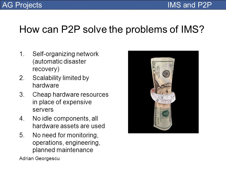 How can P2P solve the problems of IMS
