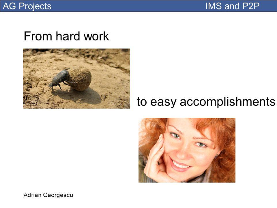 to easy accomplishments