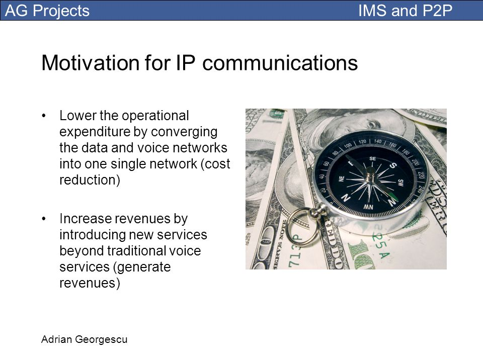 Motivation for IP communications