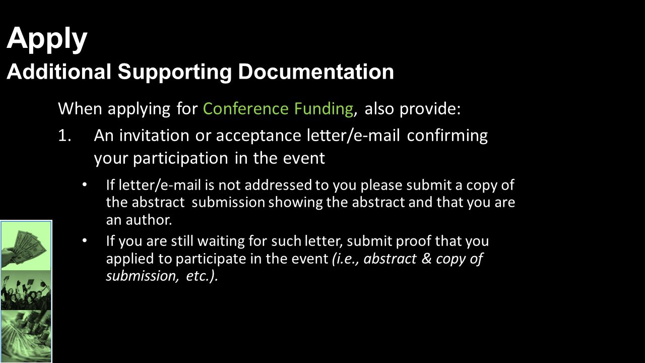 Apply Additional Supporting Documentation