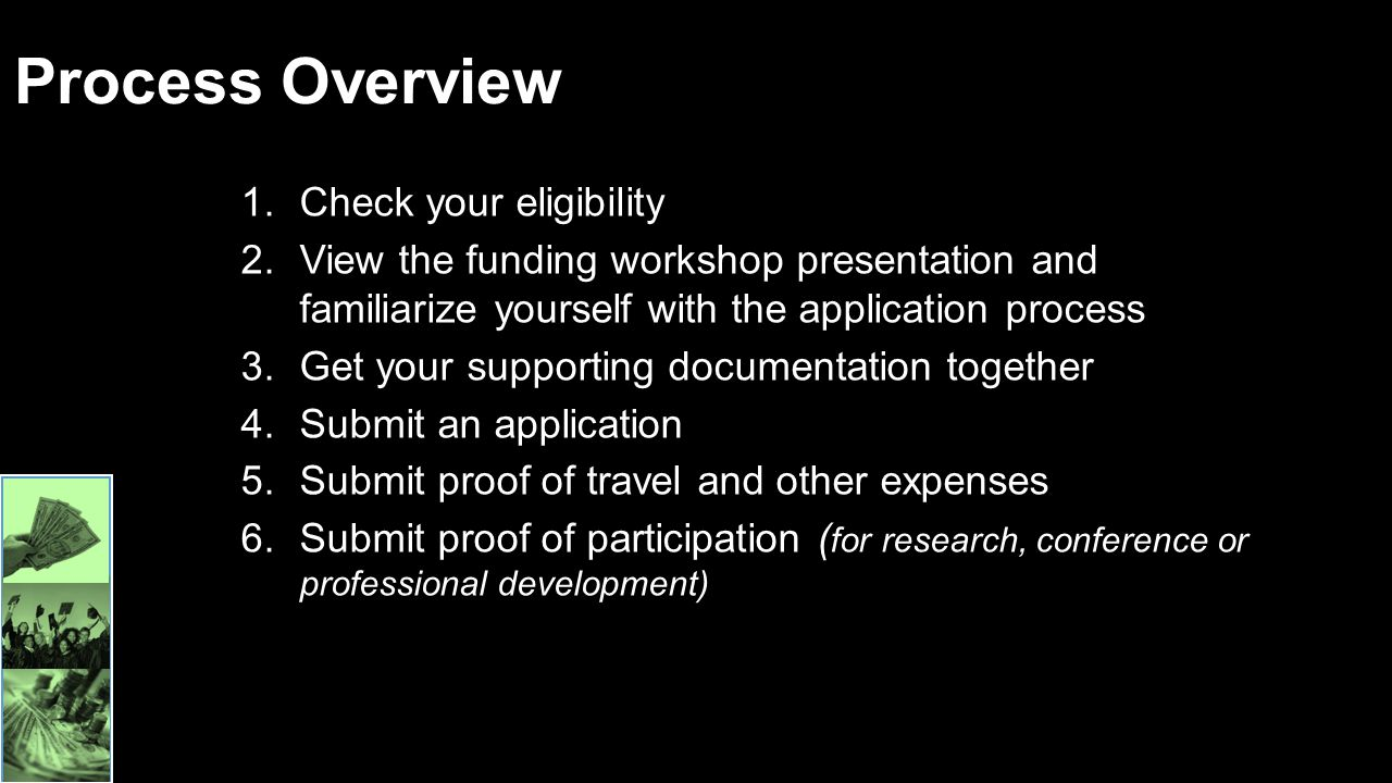 Process Overview Check your eligibility
