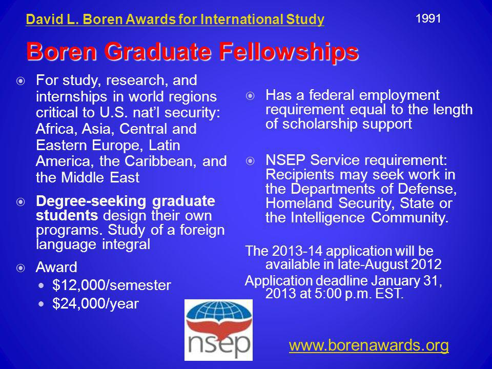 Boren Graduate Fellowships