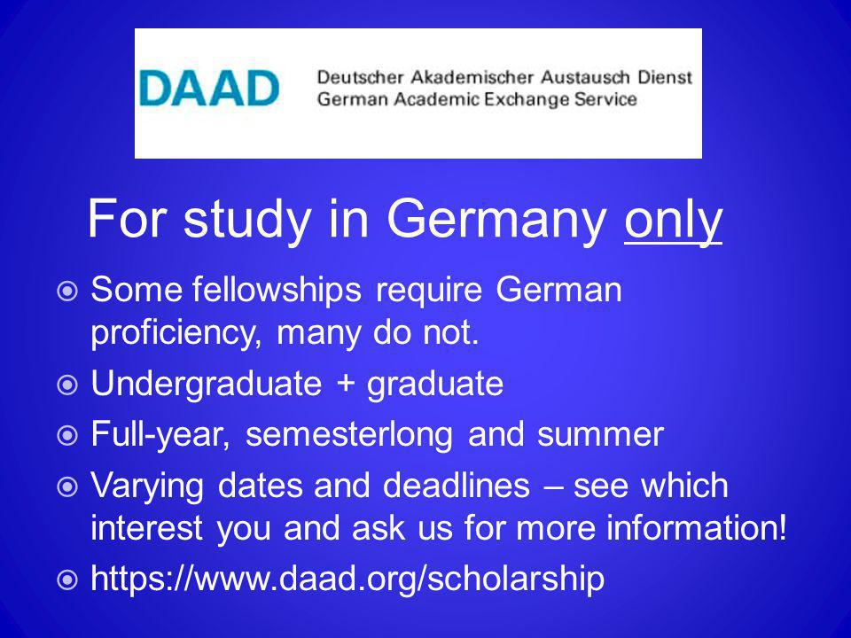 For study in Germany only