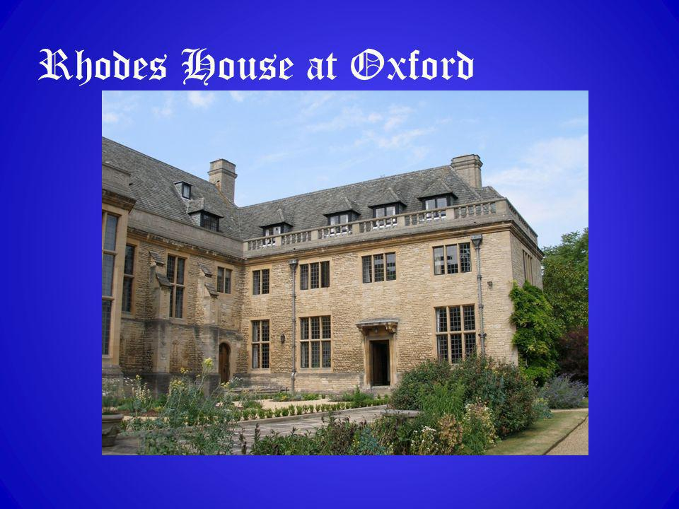 Rhodes House at Oxford
