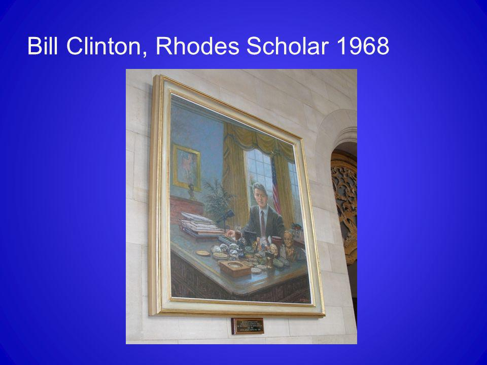 Bill Clinton, Rhodes Scholar 1968
