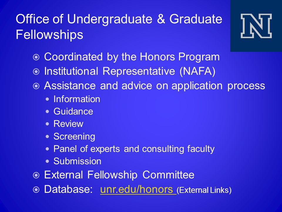 Office of Undergraduate & Graduate Fellowships