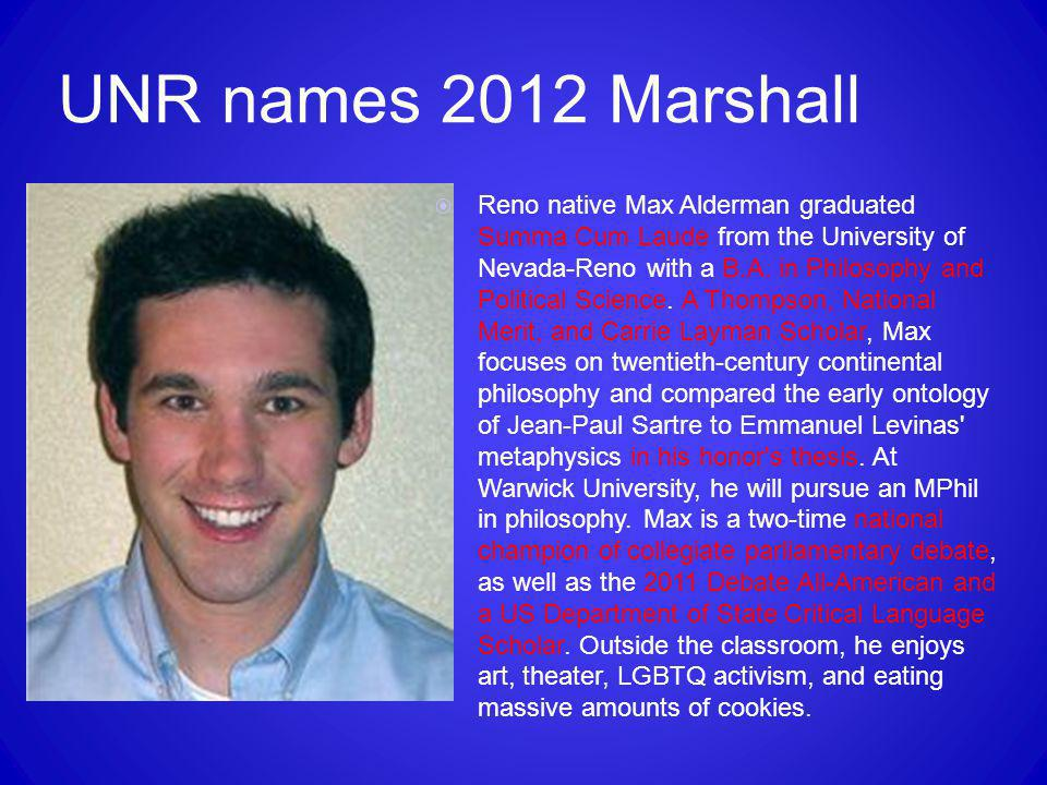 UNR names 2012 Marshall