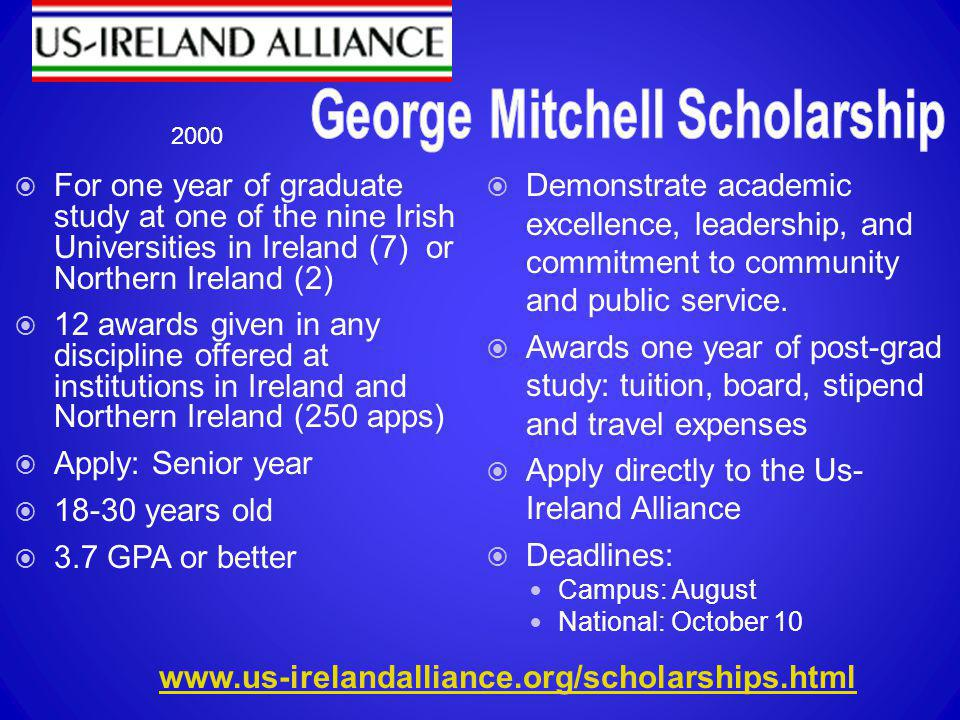 George Mitchell Scholarship