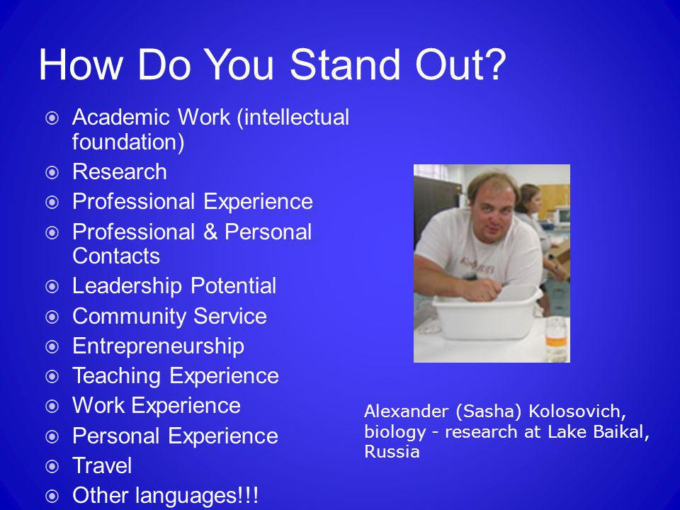 How Do You Stand Out Academic Work (intellectual foundation) Research