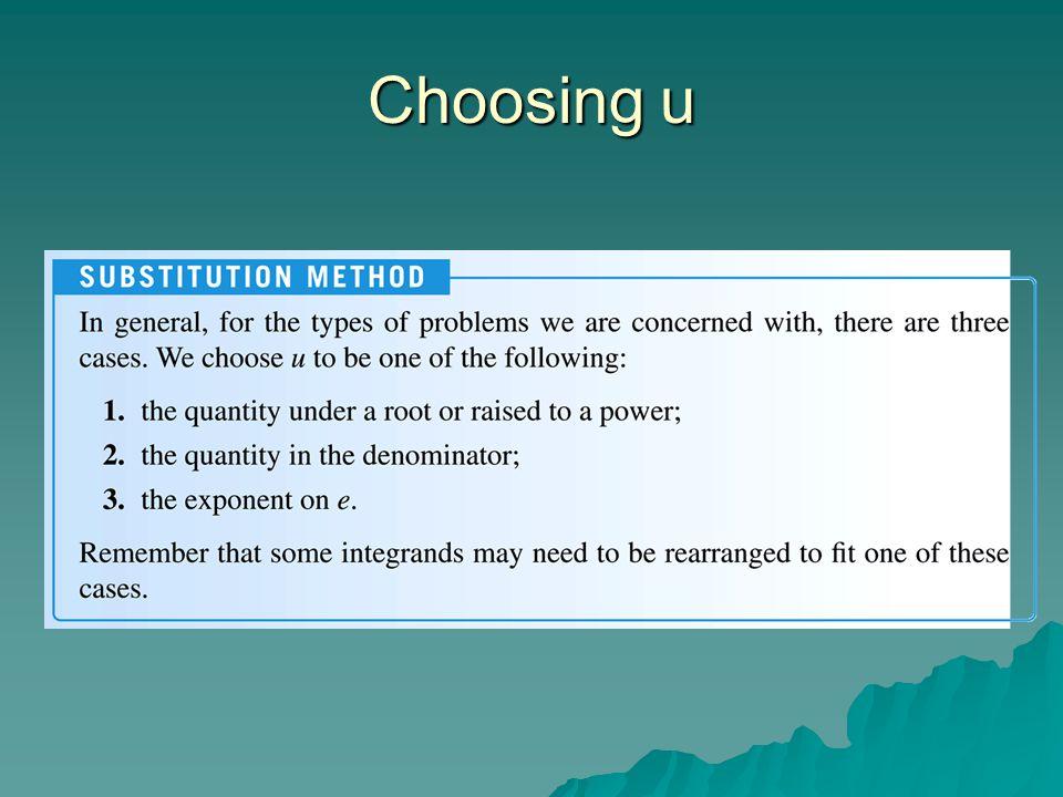 Choosing u