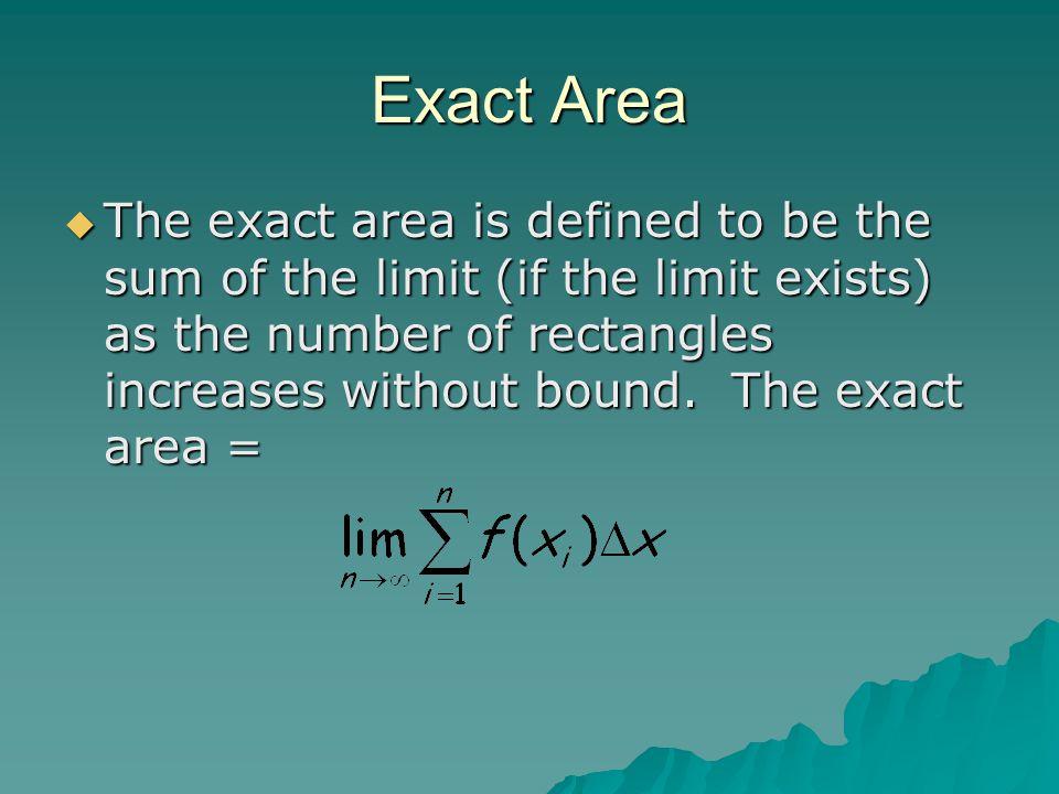 Exact Area
