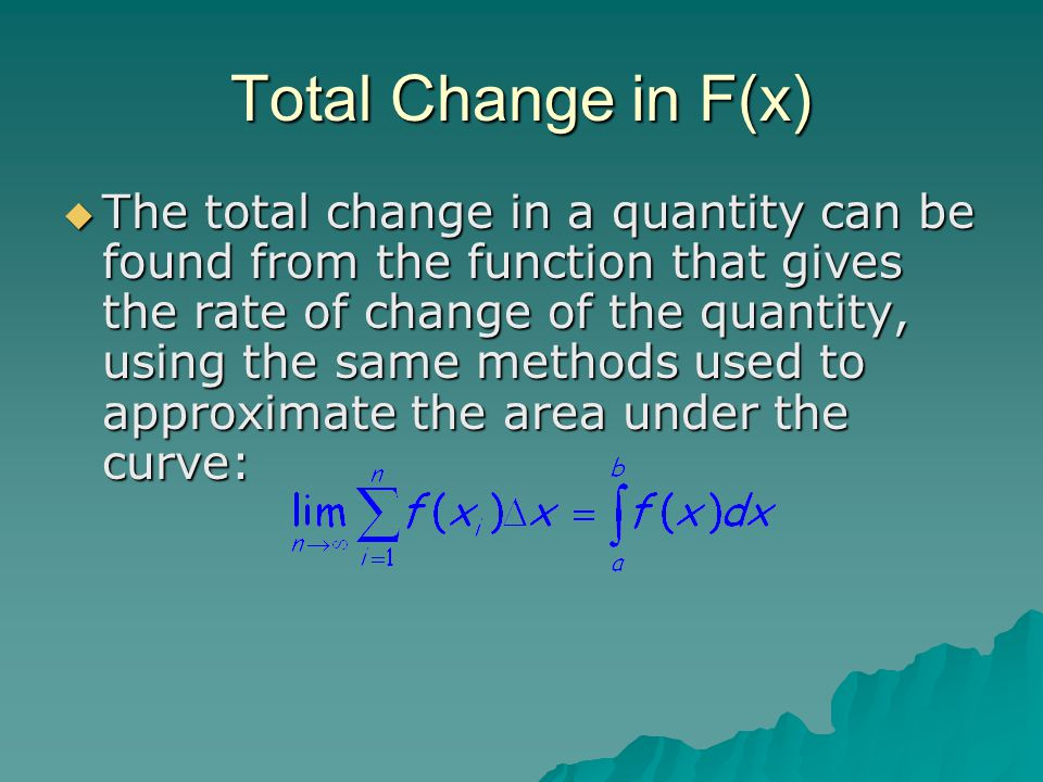 Total Change in F(x)