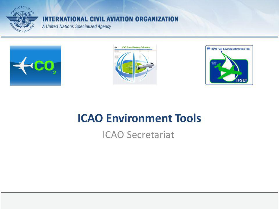 ICAO Environment Tools