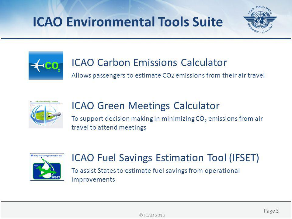 ICAO Environmental Tools Suite