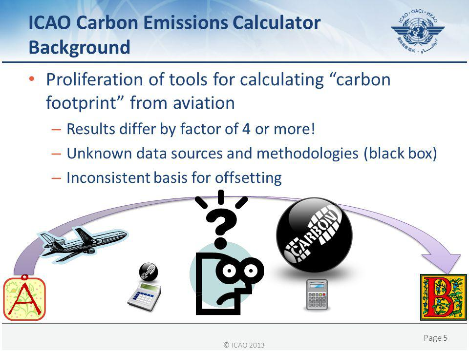 ICAO Carbon Emissions Calculator Background