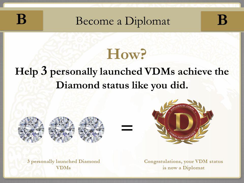 B B How II Become a Diplomat