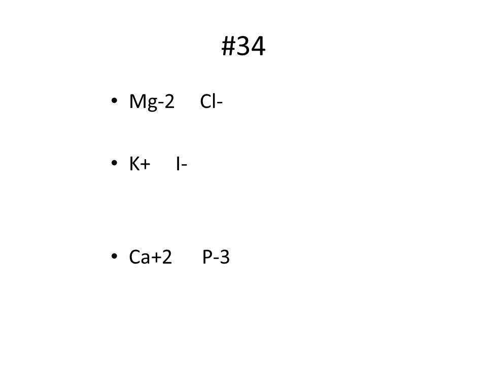 #34 Mg-2 Cl- K+ I- Ca+2 P-3