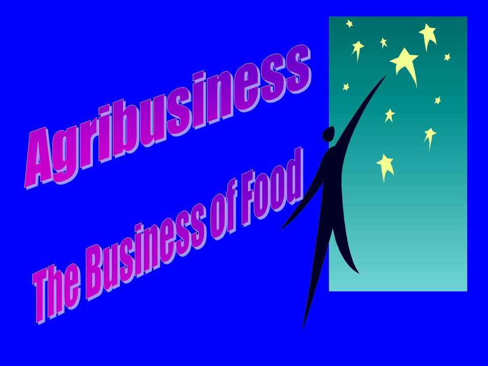 Agribusiness The Business of Food