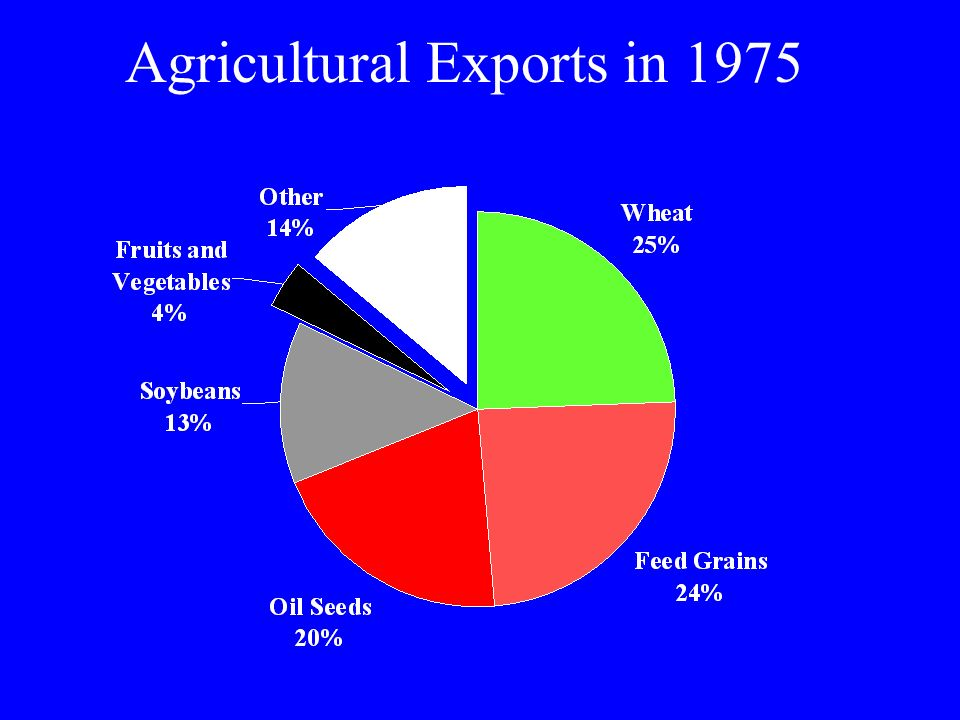 Agricultural Exports in 1975