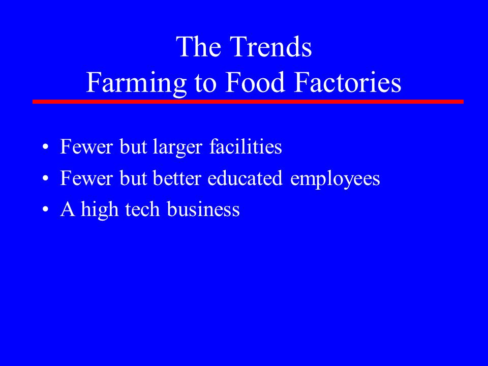 The Trends Farming to Food Factories