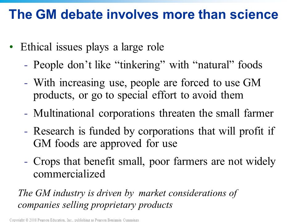 The GM debate involves more than science