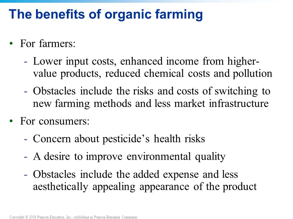 The benefits of organic farming
