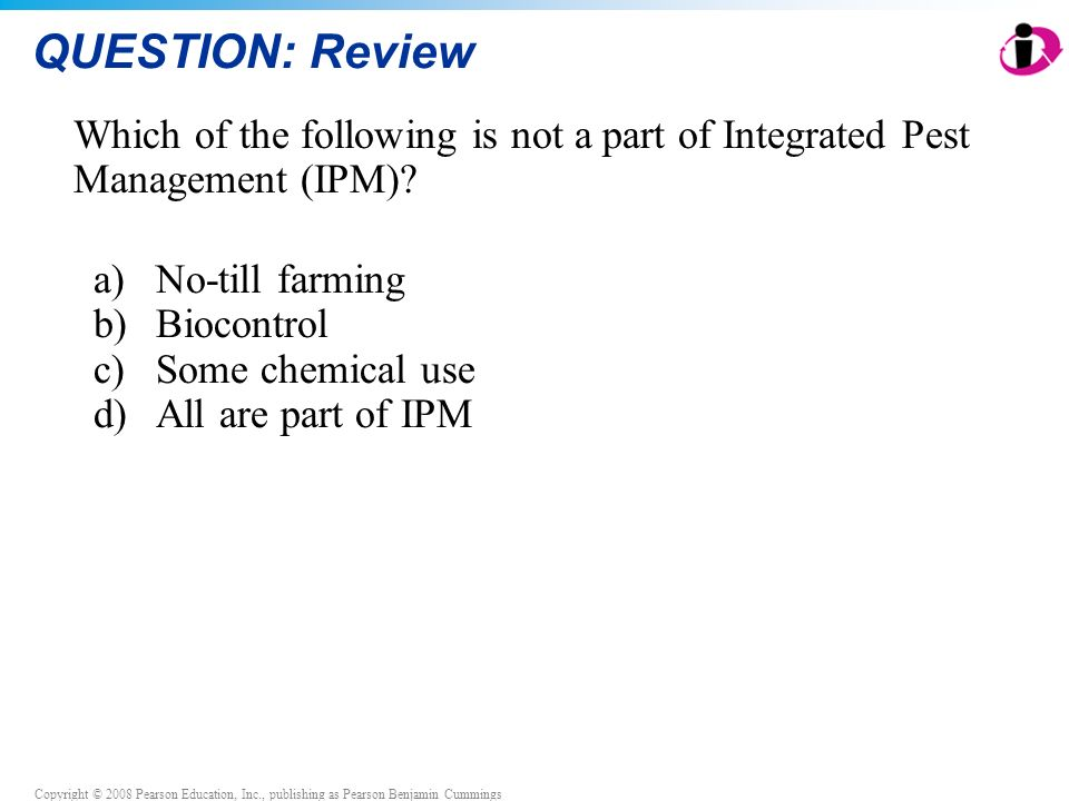 QUESTION: Review Which of the following is not a part of Integrated Pest Management (IPM) No-till farming.